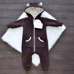 """Флисовый человечек  """"Bear"""" шоколадный  Plamka (Poland), , 1240062_326, Plamka (Poland), Одежда"""