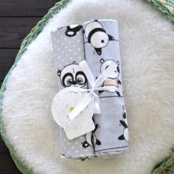 "Пеленки фланелевые Plamka 2в1 ""Веселые панды"", , 1240000331_21, Plamka (Poland), Пеленки фланелевые и муслиновые"