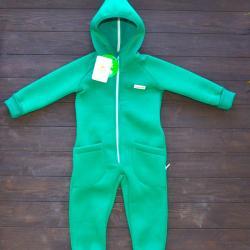 """Комбинезон на флисе с капюшоном  """"Jumpsuits"""" зеленый Plamka (Poland)"""