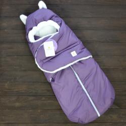 """Зимний Конверт """"Little Cat"""" фиолетовый, на сильные морозы Plamka (Poland), , 00000575, Plamka (Poland), Конверты для новорожденных"""