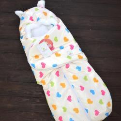 """Зимний Конверт """"Little Cat"""" сердечки, на сильные морозы Plamka (Poland), , 00000576, Plamka (Poland), Конверты для новорожденных"""