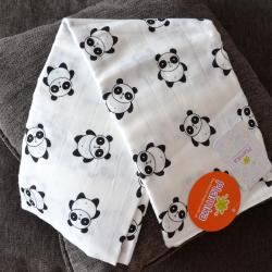 "Пеленка муслиновая (бамбук) Plamka ""Панда"", , 00000340, Plamka (Poland), Детский текстиль"