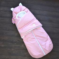 """Зимний Конверт """"Little Cat"""" розовый, на сильные морозы Plamka (Poland), , 124-003-043, Plamka (Poland), Конверты для новорожденных"""