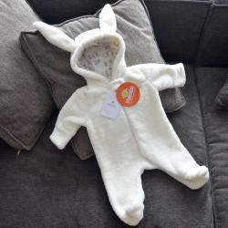 Человечек плюшевый «Зайка» молочный  3,6,9,12м Plamka, , 00000245, Plamka (Poland), Человечки для прогулок