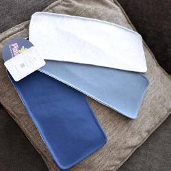 """Набор трикотажных непромокаемых полотенец  Plamka 3в1 """"Синий, темно серый и серый меланж"""", , 00000135, Plamka (Poland), Детский текстиль"""