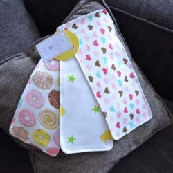 """Набор трикотажных непромокаемых полотенец  Plamka 3в1 """"Сердечка, пончики, короны"""", , 00000331, Plamka (Poland), Детский текстиль"""