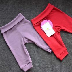 """Набор с 2 пар штанишек с мягкой резинкой """"Красный и чайная роза"""" Plamka, , 00000351, Plamka (Poland), Штанишки и ползунки"""