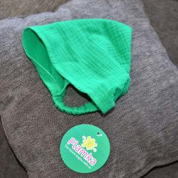 Косынка-бандана муслиновая 42-54 Plamka, зеленая