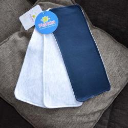 """Набор трикотажных непромокаемых полотенец  Plamka 3в1 """"темно синее и 2 серых"""", , 00000480, Plamka (Poland), Слюнявчики"""
