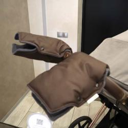 "Муфта NEW на коляску для рук ""Snow"" шоколад Plamka , , 00000654, Plamka (Poland), Аксессуары"