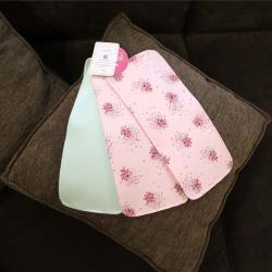 """Набор трикотажных непромокаемых полотенец  Plamka 3в1 """"Ментол и 2 с розами"""""""