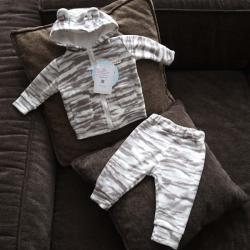 """Флисовый костюм 2в1  """"Vest set"""" камуфляж серый Plamka (Poland), , 00000722, Plamka (Poland), Наборы для малышей"""
