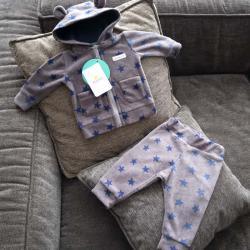 """Флисовый костюм 2в1  """"Vest set"""" звездочки Plamka (Poland), , 00000720, Plamka (Poland), Наборы для малышей"""