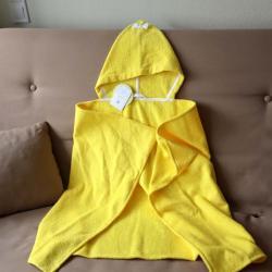 """Полотенце с капюшоном  """"Kids"""" желтое с бантиком """"Plamka"""""""