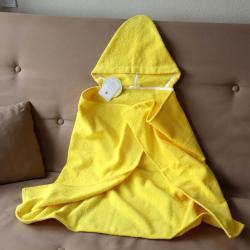 """Полотенце с капюшоном  """"Kids"""" желтое с шнуровкой """"Plamka"""""""