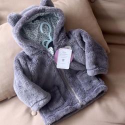Курточка  плюшевая «Мишутка» темно - серая Plamka, , 00000792, Plamka (Poland), Куртки и ветровки