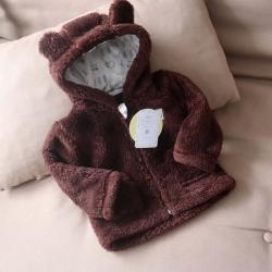Курточка  плюшевая «Мишутка» шоколад Plamka, , 00000072, Plamka (Poland), Куртки и ветровки