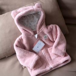 Курточка  плюшевая «Мишутка» пудра Plamka, , 00000070, Plamka (Poland), Куртки и ветровки