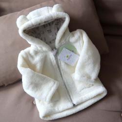 Курточка  плюшевая «Мишутка» молоко Plamka, , 00000069, Plamka (Poland), Куртки и ветровки