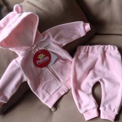 """Велюровый набор 2в1  """"Spring set"""" розовый Plamka (Poland), , 00000802, Plamka (Poland), Наборы для малышей"""
