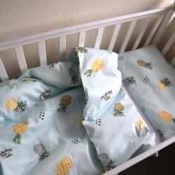 """Набор постельного белья в кроватку  """"Sweet dreams"""" ананасики на голубом Plamka, , 00000851, Plamka (Poland), Постельное белье"""