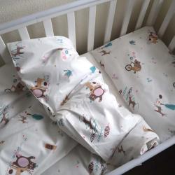 """Набор постельного белья в кроватку  """"Sweet dreams"""" мишки на велосипеде  Plamka, , 00000854, Plamka (Poland), Постельное белье"""