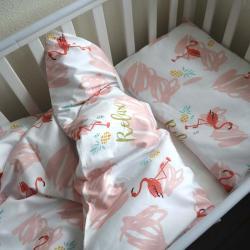 """Набор постельного белья в кроватку  """"Sweet dreams"""" фламинго Plamka, , 00000858, Plamka (Poland), Постельное белье"""