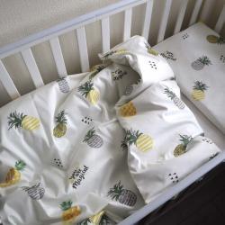 """Набор постельного белья в кроватку  """"Sweet dreams""""  ананасики на молочном Plamka, , 00000847, Plamka (Poland), Постельное белье"""