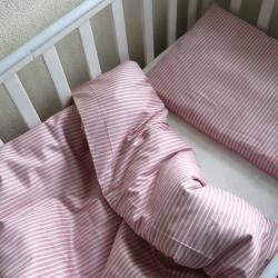 """Набор постельного белья в кроватку  """"Sweet dreams"""" полоска розовая Plamka, , 00000857, Plamka (Poland), Постельное белье"""