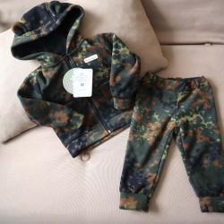 """Флисовый костюм 2в1  """"Vest set"""" камуфляж зелено-коричневый Plamka (Poland), , 00000866, Plamka (Poland), Наборы для малышей"""