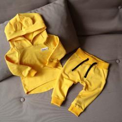 "Набор 2в1  ""Light"" (зауженные штаны) желтый Plamka (Poland), , 00000928, Plamka (Poland), Наборы для малышей"