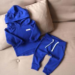 """Набор 2в1  """"Light"""" (зауженные штаны) синий электрик Plamka (Poland), , 00000932, Plamka (Poland), Наборы для малышей"""