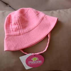 Муслиновая детская панама  'Ярко розовая' Plamka, , 00000982, Plamka (Poland), Шапочки
