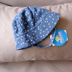 Муслиновая детская панама  'Denim' Plamka, , 00000979, Plamka (Poland), Шапочки