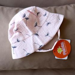 Муслиновая детская панама  'Розовая одуванчики' Plamka, , 00000981, Plamka (Poland), Шапочки