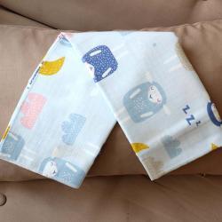 """Пеленка муслиновая (бамбук) Plamka """"Барашки"""" голубая, , 00000984, Plamka (Poland), Пеленки фланелевые и муслиновые"""
