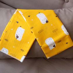 """Пеленка муслиновая (бамбук) Plamka """"Барашки"""" желтая, , 00000985, Plamka (Poland), Пеленки фланелевые и муслиновые"""