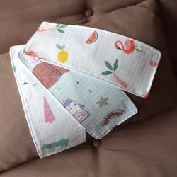 "Набор муслиновых непромокаемых полотенец  Plamka 3в1 ""Фламинго"", , 00001002, Plamka (Poland), Слюнявчики"