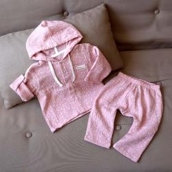 """Набор рубашка и штаны муслиновый  """"Розовые плюсики"""" Plamka (Poland), , 00001011, Plamka (Poland), Шорты и футболки"""