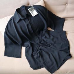 """Набор шорты и рубашка """"Summer"""" черный Plamka (Poland)"""