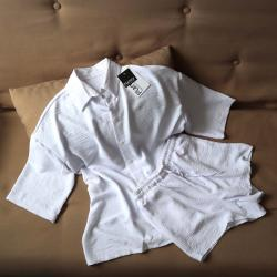 "Набор шорты и рубашка ""Summer"" белый Plamka (Poland)"