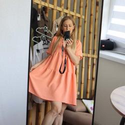 """Платье воздушное  """"Summer"""" персик  Plamka (Poland), , 00002020, Plamka (Poland), Взрослая одежда"""