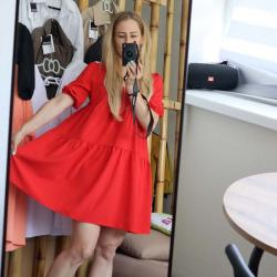 """Платье воздушное  """"Summer"""" красное  Plamka (Poland), , 00002019, Plamka (Poland), Взрослая одежда"""