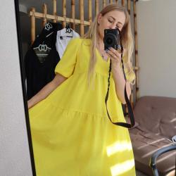 """Платье воздушное  """"Summer"""" желтое  Plamka (Poland), , 00002018, Plamka (Poland), Платья"""