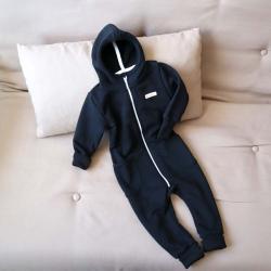 """Ромпер с капюшоном 18,24м  """"Jumpsuits"""" черный  Plamka (Poland), , 00001075, Plamka (Poland), Человечки для прогулок"""
