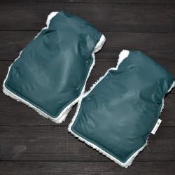"Муфта на коляску для рук ""Классик"" зеленая Plamka , , 1240002_91321, Plamka (Poland), Муфты для рук"