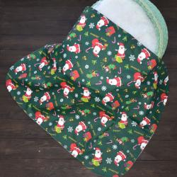 "Непромокаемая хлопковая пеленка ""Дед мороз"" Plamka (Poland), , 1240076_28580, Plamka (Poland), Пеленки и полотенца"
