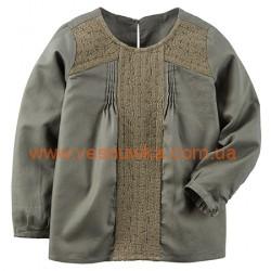 Кофточка с вышивкой для девочки., , 424216, CARTERS, Регланы, туники