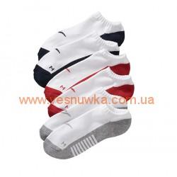 Набор из трех пар носков OldNavy белых с цветными пятками, , 525211, Old Navy, Нижнее белье, носочки, колготы