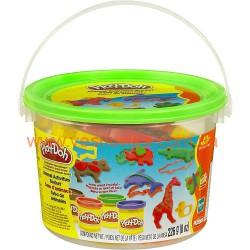 "Мини-набор пластилина ""Ведерко с формочками"" Плей-До - Животные Play-Doh , , 5757222-4, Hasbro (USA), Игрушки"